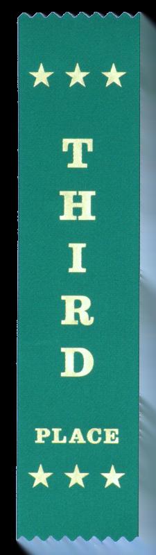 Third Place award ribbons
