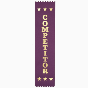 Competitor award ribbons