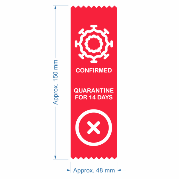 Coronavirus COVID-19 warning safety status ribbon - Confirmed