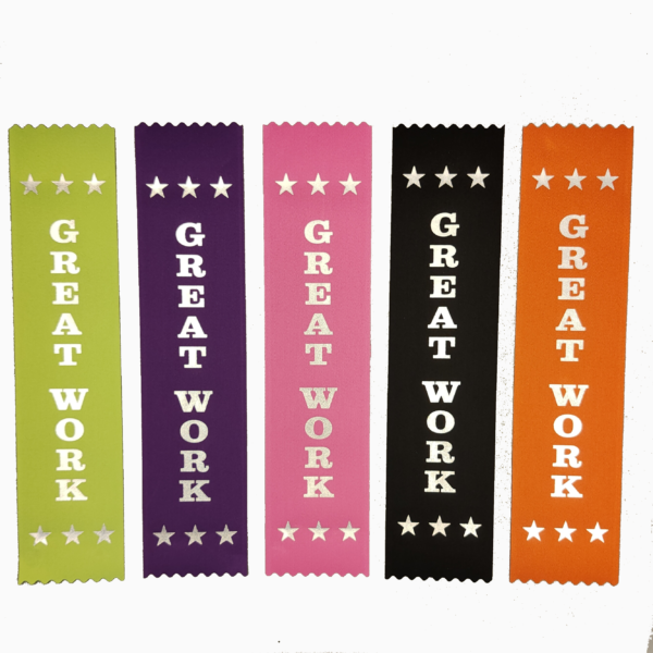 Great work ribbons - mixed colours