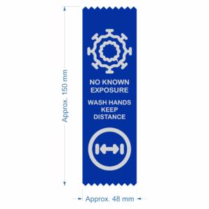 Coronavirus COVID-19 warning safety status ribbon - No Known Expsure