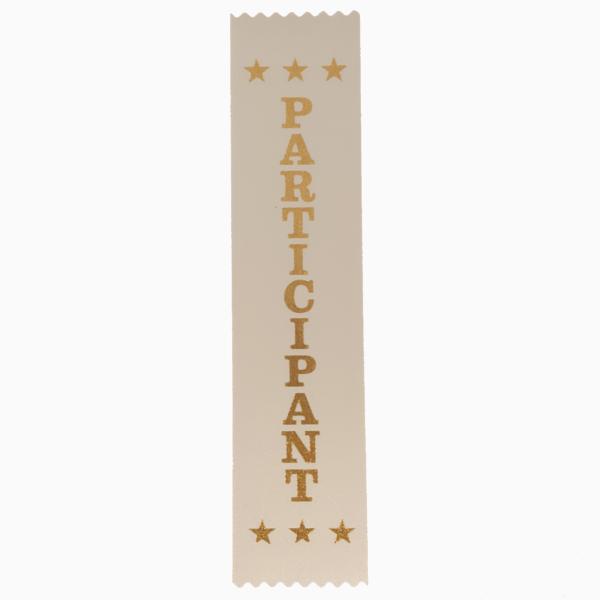 Participant award ribbons