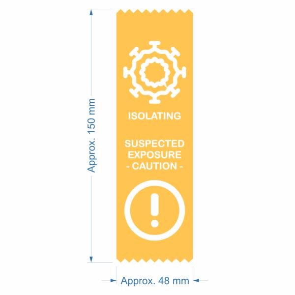 Coronavirus COVID-19 warning safety status ribbon - Isolating