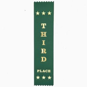 Third Place award ribbons