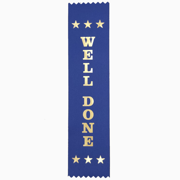 Well Done award ribbon