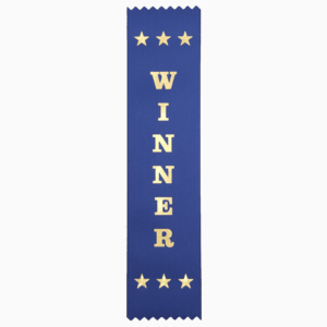 Winner award ribbons