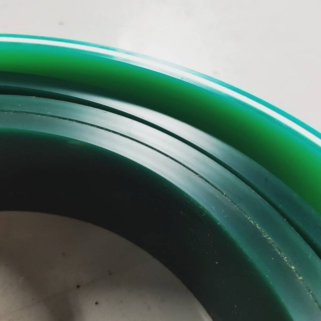 This is squeegee rubber. When our squeegees get a bit blunt they stop working well so we need to replace them. The darker green is our standard stuff and the one with the white core is having a trial run because we think it might last longer. Lasting longer = less waste and that's something we strive for everyday 🙌 . #minimisewaste #betterfortheplanet #squeegee #randd #screenprinting #shedlife