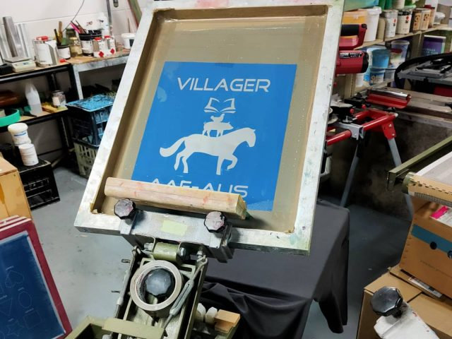 T-shirts on the carousel this morning 💪 This time we're printing for horsesforhealthredlands  and they've come up a treat! We needed to make sure the ink was soft and comfortable to wear while also being durable for yard work and learning with horses. 🐴🐎🐴 #screenprintingbrisbane #smallbusinesslogan #tshirtprintingbrisbane #supportlocal #printingbusiness