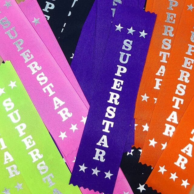 🌟🌟🌟We believe in recognition of effort. Not everyone comes first but everyone tries. How great is it when someone sees you trying your best? 🌟🌟🌟 . Shiny silver foil SUPERSTAR ribbons. We have these available in multi colour packs perfect for the classroom, library or training sessions 👏🌟🦸 . #classroomsupplies #teachersupplies #teachingaids #awardribbons #intheclassroom #onthefield #inthepool #schoolawards