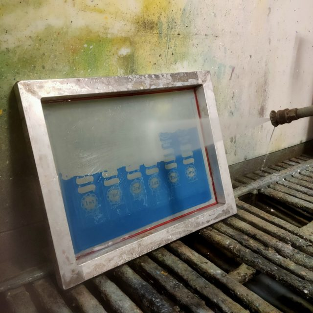 Reclaiming screens. We've had a big month here at the shed so there are quite a few screens that need reclaiming so we can get onto new orders. It's such a satisfying process watching the emulsion disappear under the pressure hose. 🤓🌊✨ #screenprinting #cleaningday #rackemup #reclaimingscreens #maintenance #smallbiz #brisbanebusiness #handmade